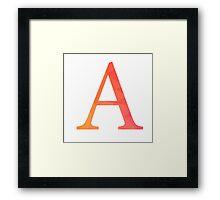 Alpha-red Framed Print