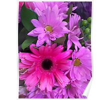Pink Bouquet Poster