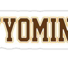 Wyoming Jersey Brown Sticker