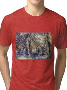 Outhouse in Snow Tri-blend T-Shirt