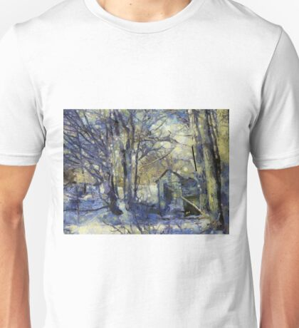 Outhouse in Snow Unisex T-Shirt