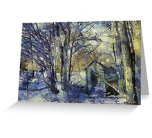 Outhouse in Snow Greeting Card