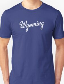Wyoming Script White T-Shirt