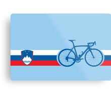 Bike Stripes Slovenia Metal Print