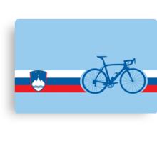 Bike Stripes Slovenia Canvas Print