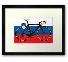 Bike Flag Slovenia (Big - Highlight) Framed Print