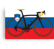 Bike Flag Slovenia (Big - Highlight) Canvas Print