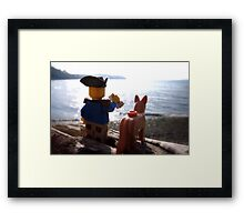 On watch Framed Print