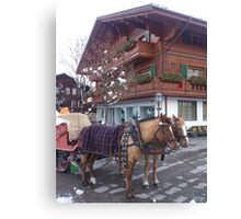 Horse Sleigh Ride Canvas Print