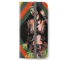 Woman With Long Black Hair Abstract  iPhone Wallet/Case/Skin