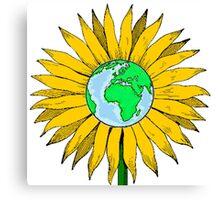 Earth Sunflower Canvas Print