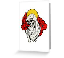 Death and Poppies Greeting Card