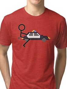 Fuck Police cool funny police car fucking icon Tri-blend T-Shirt