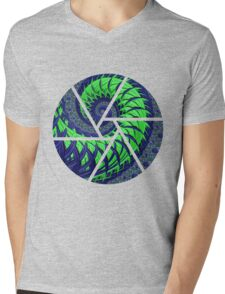 SeaHawks Spiral Fractal Mens V-Neck T-Shirt