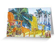 Tropical Summer Fantasy  Greeting Card