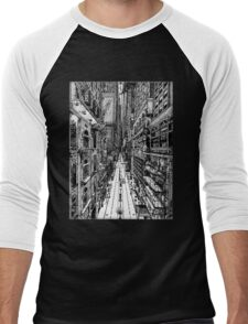 Cityscape Men's Baseball ¾ T-Shirt