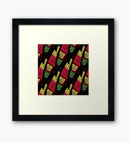 Ornamental Decorative pattern Framed Print