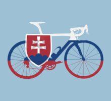 Bike Flag Slovakia (Big) Kids Tee
