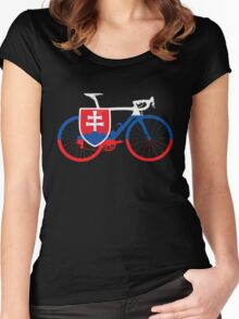 Bike Flag Slovakia (Big) Women's Fitted Scoop T-Shirt