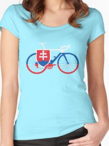 Bike Flag Slovakia (Big) Women's Fitted Scoop T-Shirt