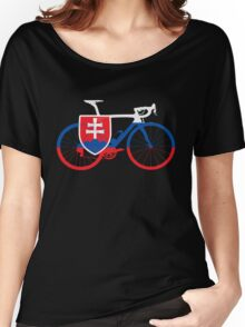 Bike Flag Slovakia (Big) Women's Relaxed Fit T-Shirt