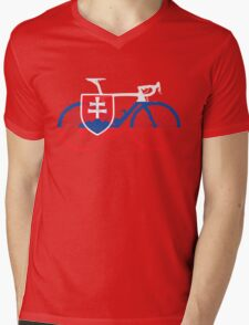 Bike Flag Slovakia (Big) Mens V-Neck T-Shirt
