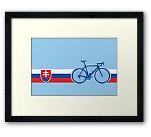 Bike Stripes Slovakia Framed Print