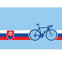 Bike Stripes Slovakia Photographic Print