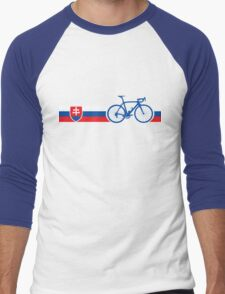 Bike Stripes Slovakia Men's Baseball ¾ T-Shirt