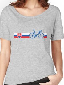 Bike Stripes Slovakia Women's Relaxed Fit T-Shirt