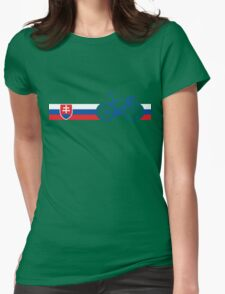Bike Stripes Slovakia Womens Fitted T-Shirt