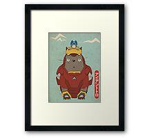 My Neighbour Iron Totoro Framed Print
