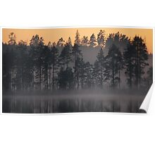 Night Mist on a Finnish Lake Poster