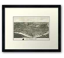 Vintage Pictorial Map of Cincinnati (1900) Framed Print