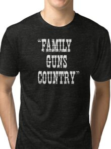 Family Guns Country (for Dark Colored Products) Tri-blend T-Shirt