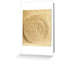 Abadiano's Cast of the Aztec Calendar Stone Greeting Card