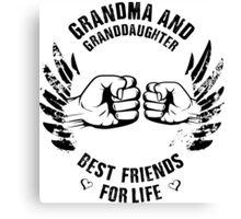 Grandma and Granddaughter Canvas Print