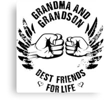 Grandma and Grandson Canvas Print