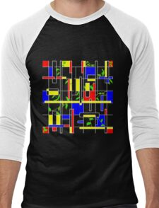 Red, Blue, Yellow, and Ivy  Men's Baseball ¾ T-Shirt