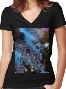 Magic Spider Women's Fitted V-Neck T-Shirt