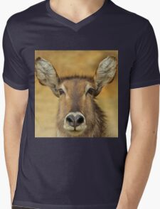 Waterbuck - Focused Stare - African Wildlife Mens V-Neck T-Shirt
