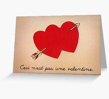The Treachery of Valentines Greeting Card