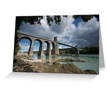 Menai Bridge, Anglesey Greeting Card