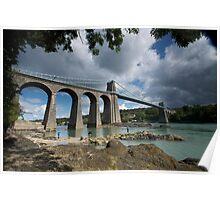 Menai Bridge, Anglesey Poster