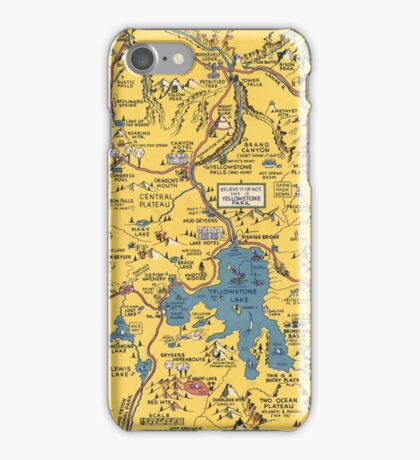 Vintage 1930 Yellowstone National Park map - special gift idea - gift for mother, father gift, Christmas gift iPhone Case/Skin