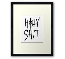 Holly Shit Framed Print