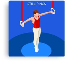 Gymnastics Still Rings  Canvas Print