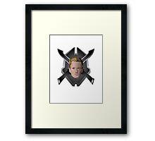Legendary Halo Barney Head Framed Print