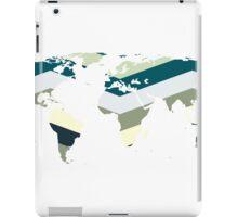 Sea green world map iPad Case/Skin