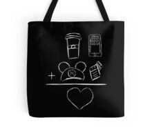 Coffee Ears FP Phone Equals Love Tote Bag